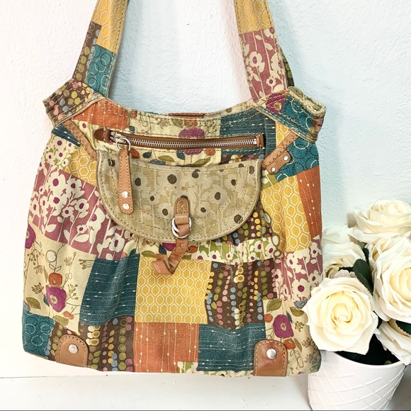 Fossil Handbags - Vintage 🔑 Fossil quilted patches handbag